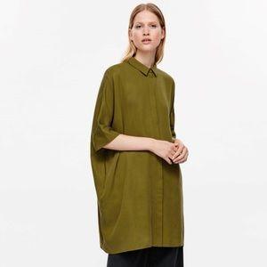 COS green oversized shirt dress
